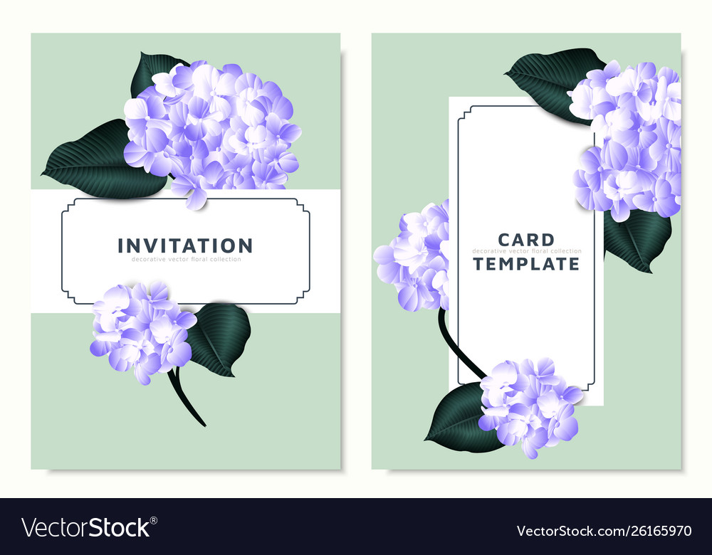 Purple hydrangea and philodendron silk leaves