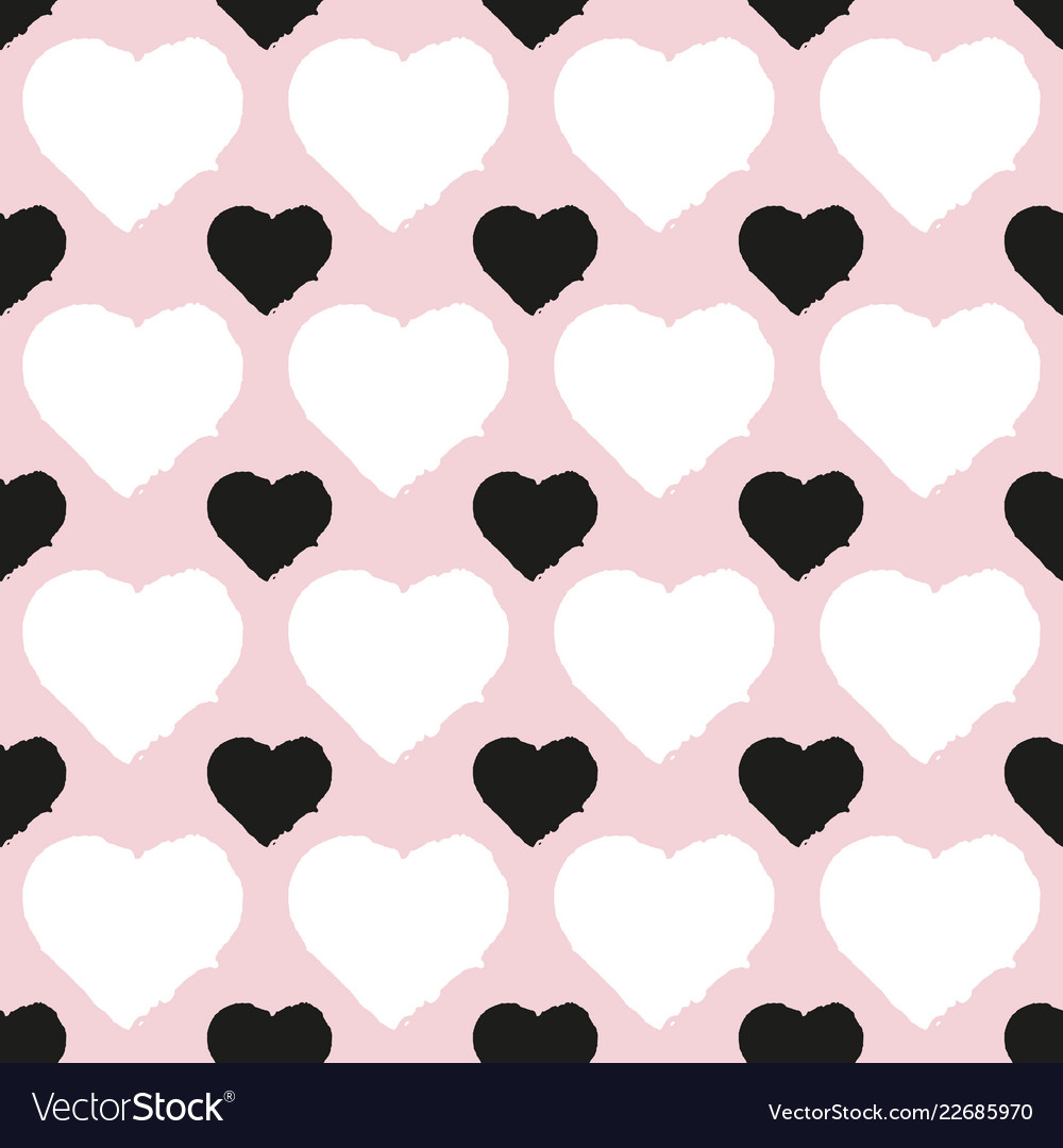 Seamless pattern of heart