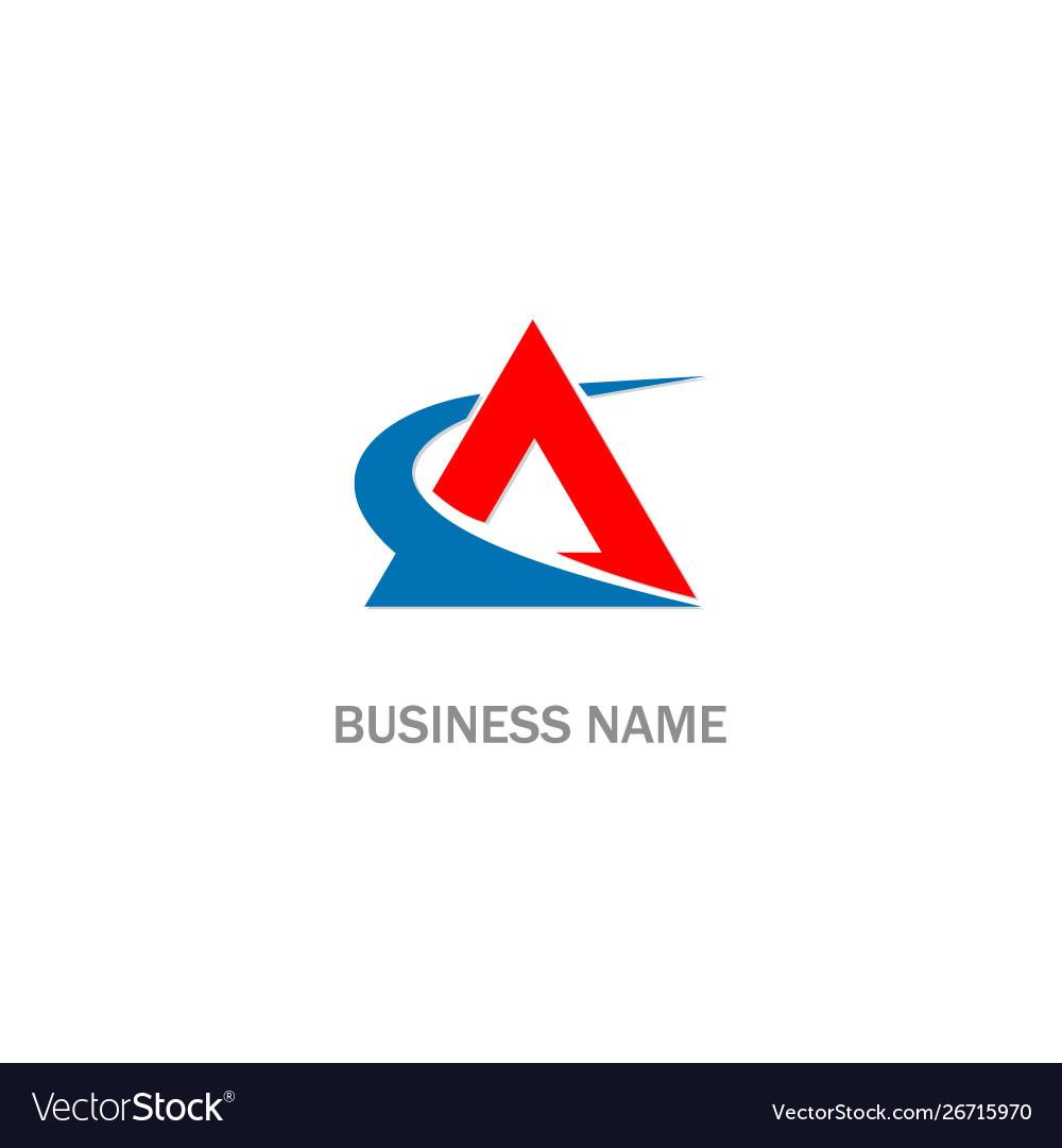 Triangle swoosh company logo