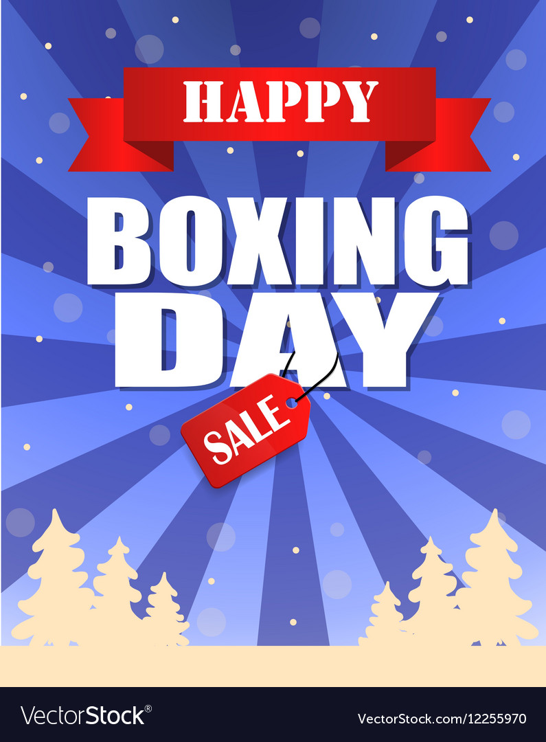 Vintage happy Boxing Day design
