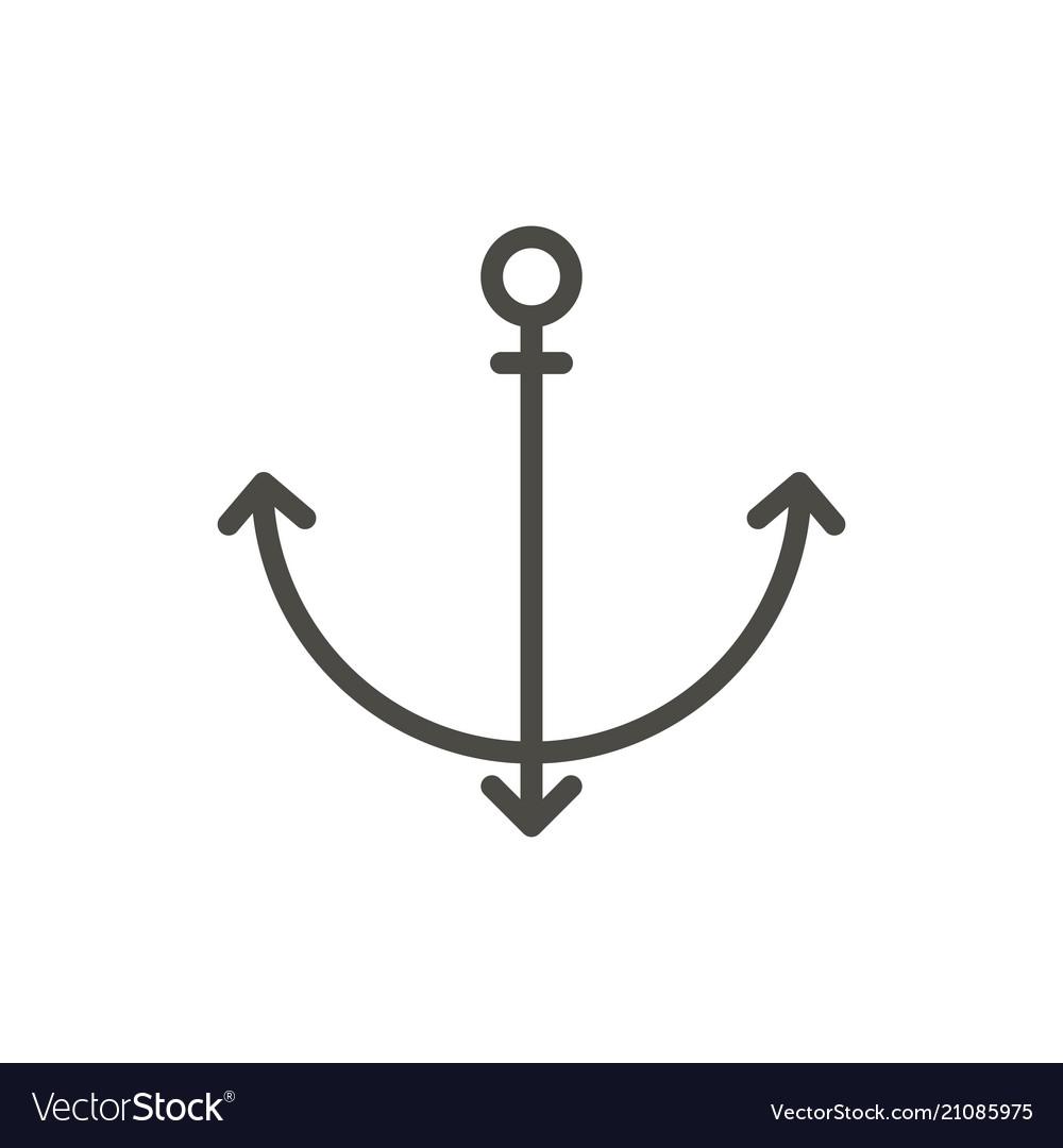 Anchor icon line symbol