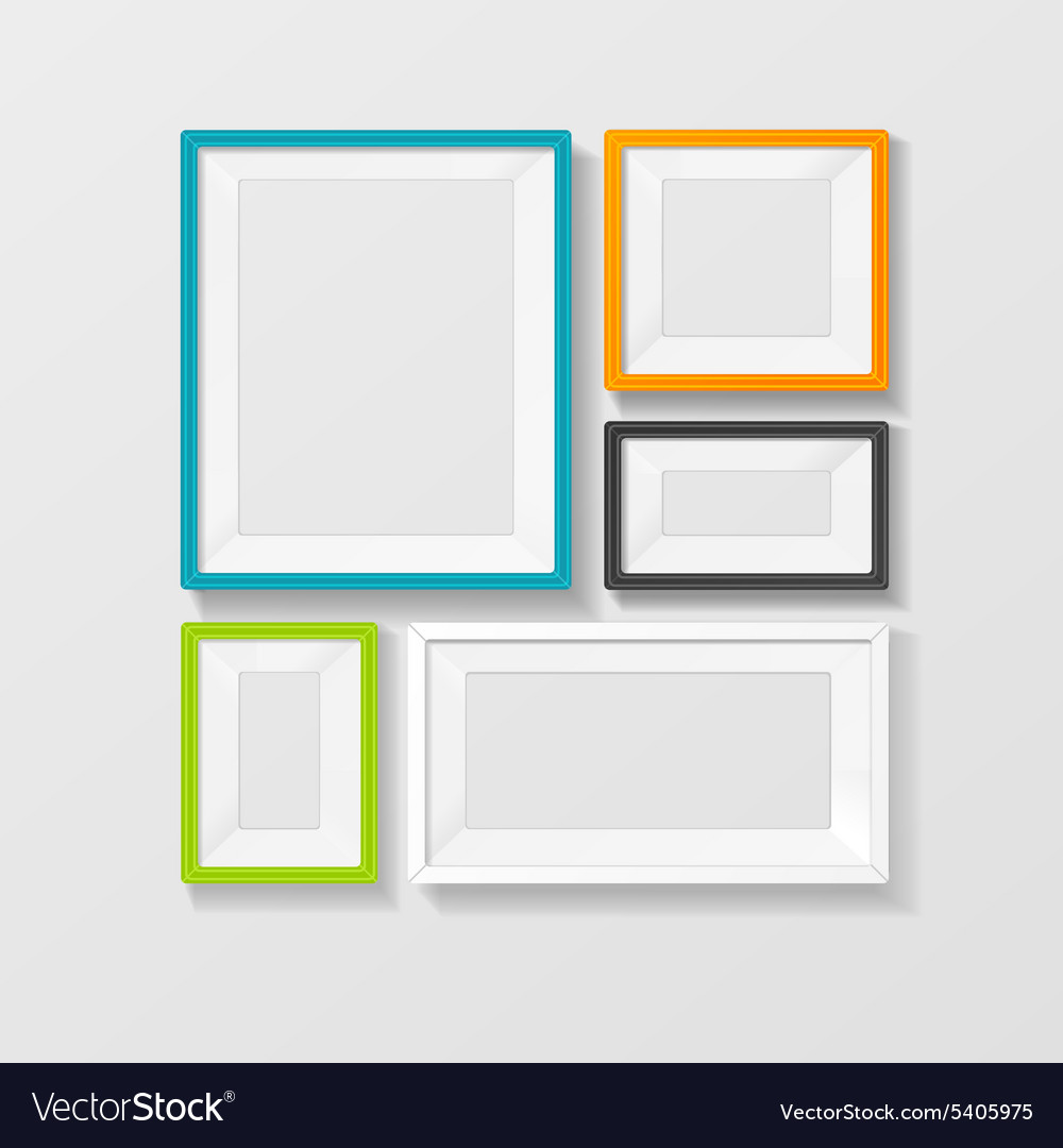 Color picture frame set
