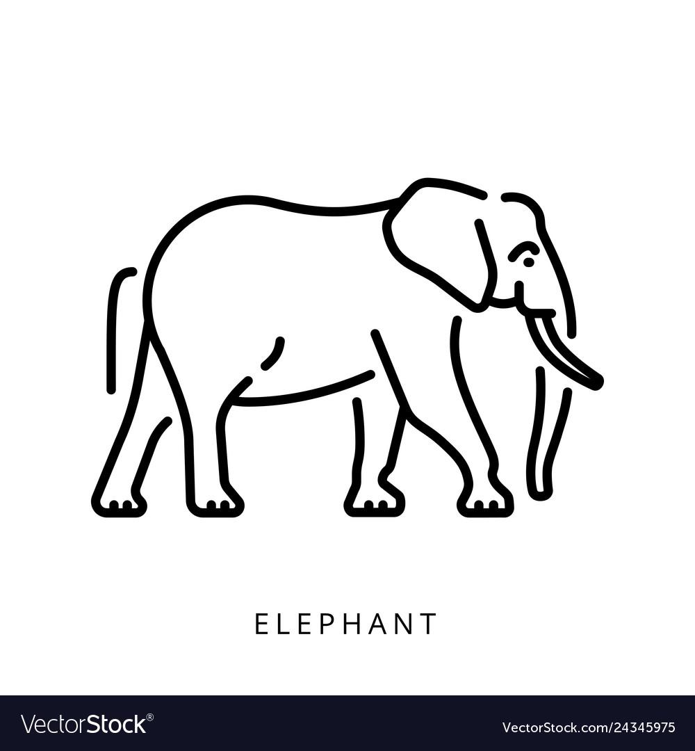Elephant outline logo minimalistic logo simple