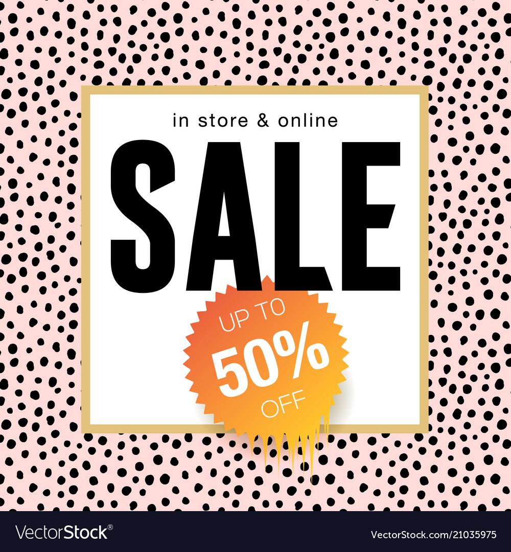 Sale banner template design online shopping