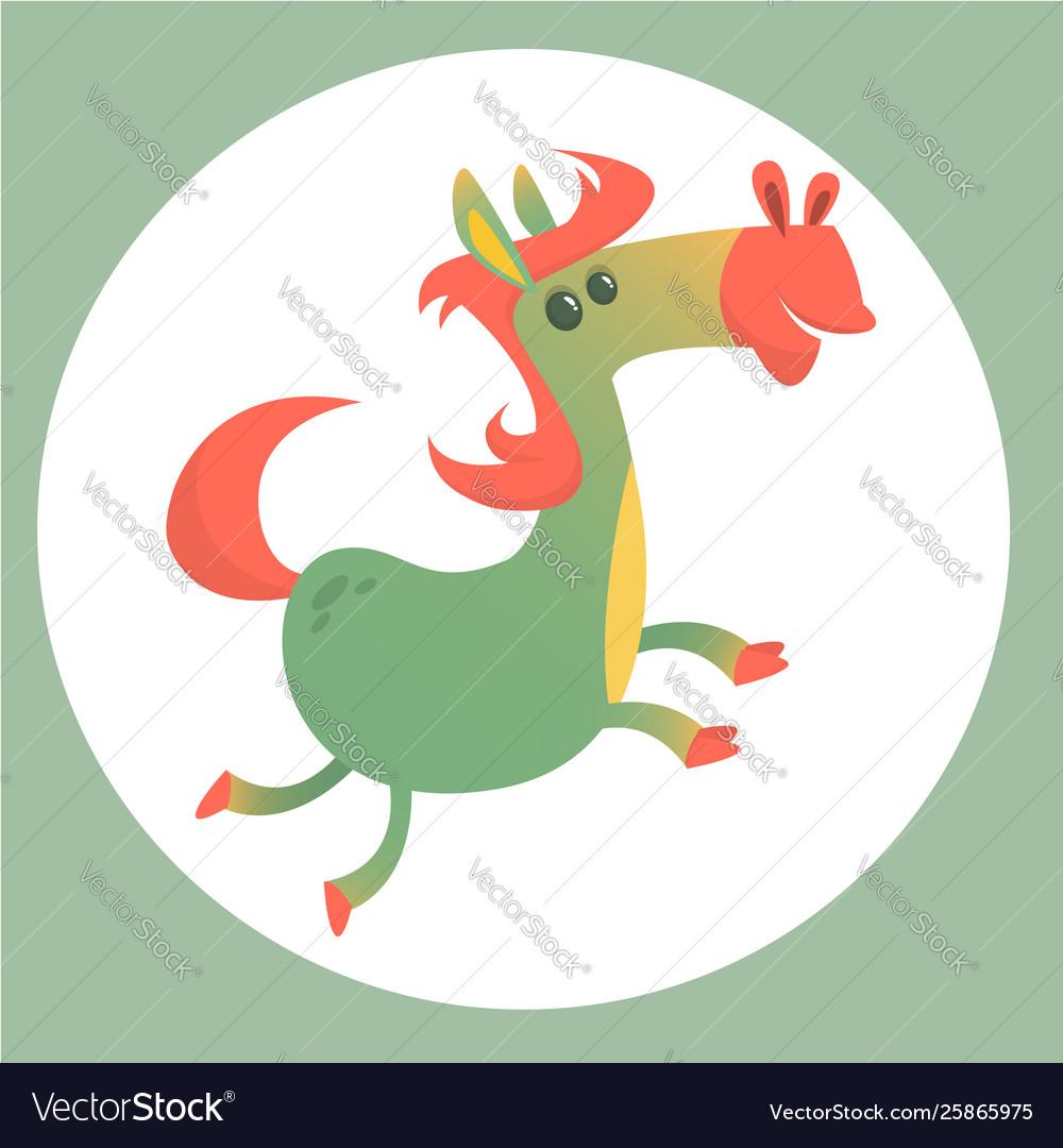 Smiling Funny Cartoon Horse Character Royalty Free Vector