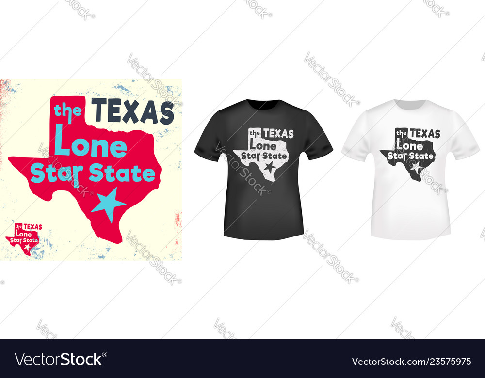 Texas - the lone star state t shirt print