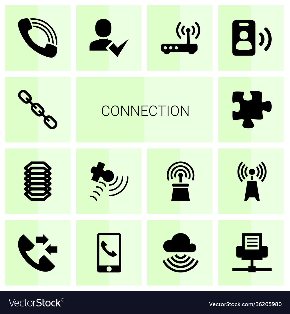 14 connection icons