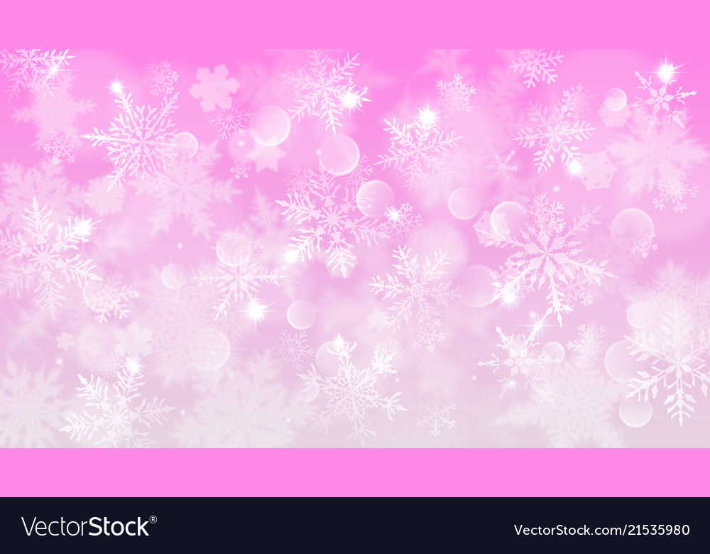 Christmas background of blurred snowflakes