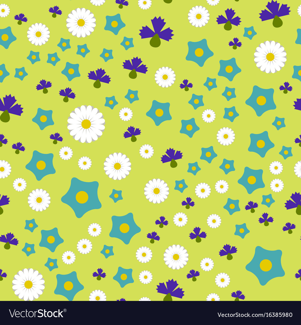 Nature spring flower wreath colorful vector image