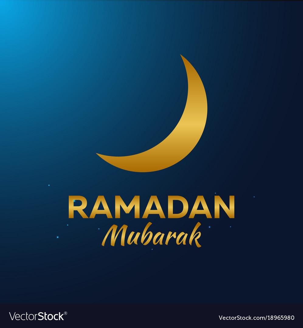 Ramadan kareem ramadan mubarak greeting card vector image m4hsunfo