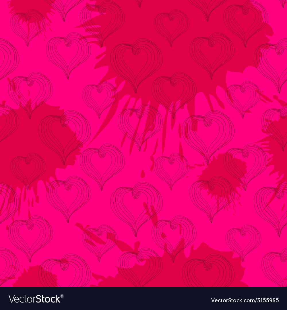 Abstract Hearts on a crimson background