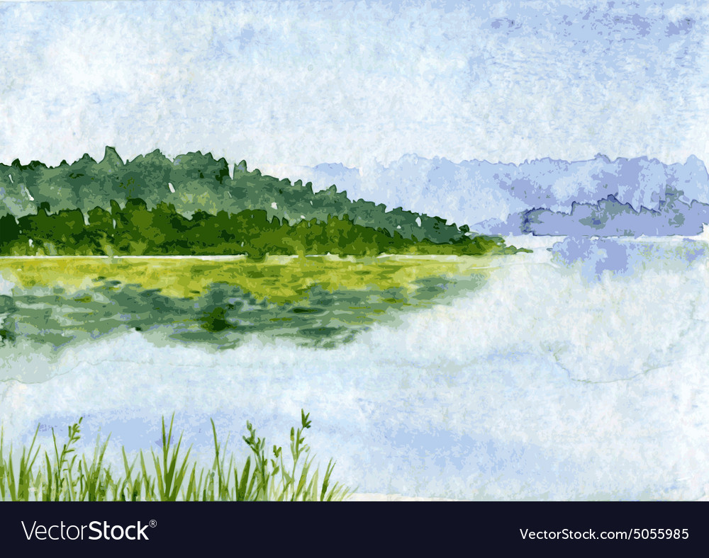 abstract watercolor landscape royalty free vector image