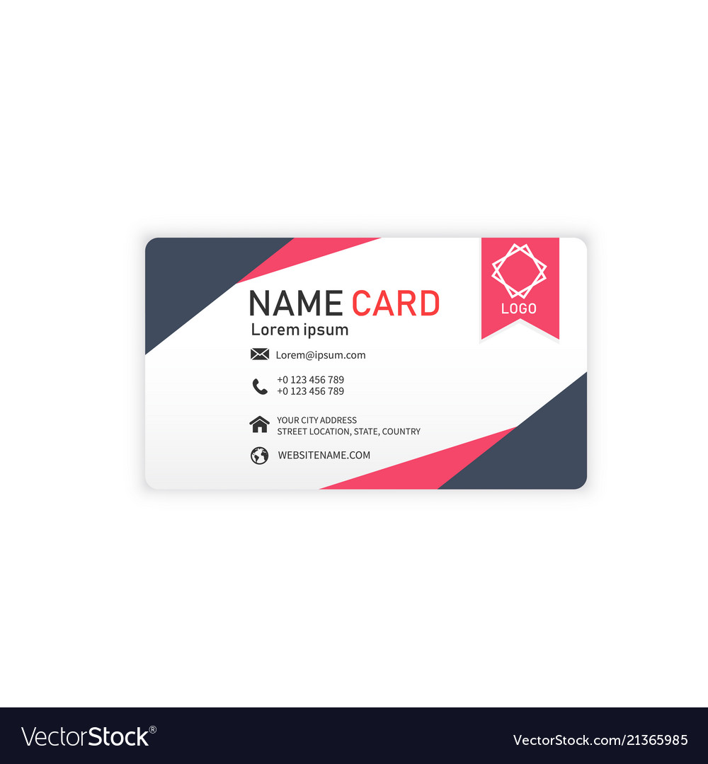 Black red business abstract name card image