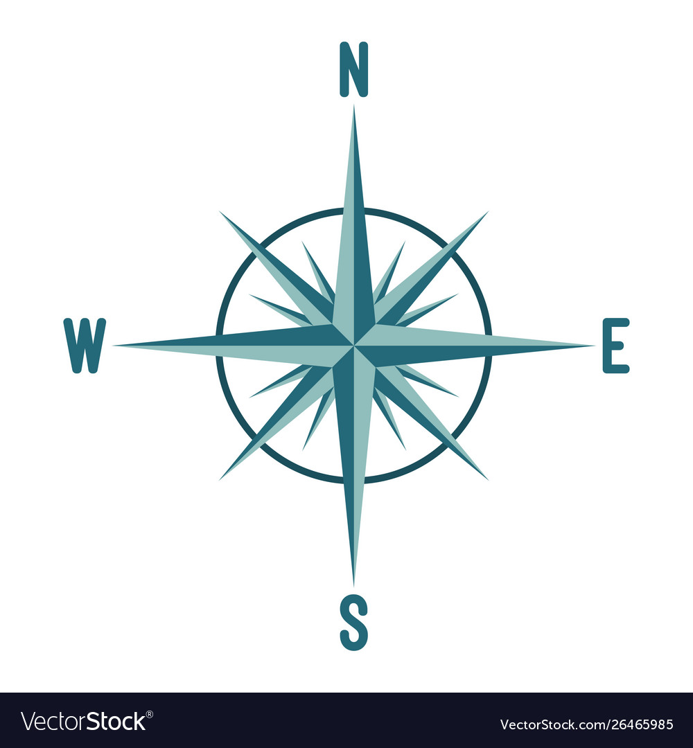 Compass wind rose design