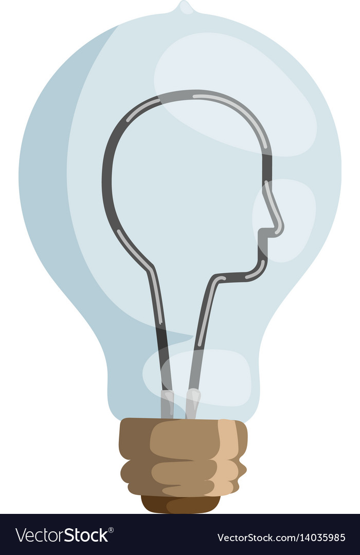 Face lamp concept isolated vector image