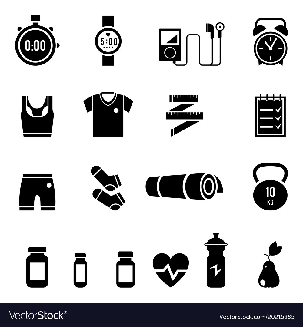 Fitness and sport icons for web and mobile