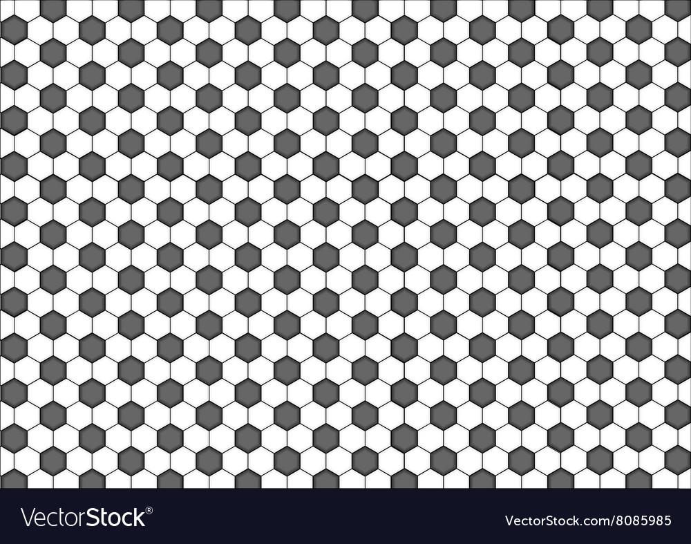 Modern seamless geometry pattern hexagon black vector image