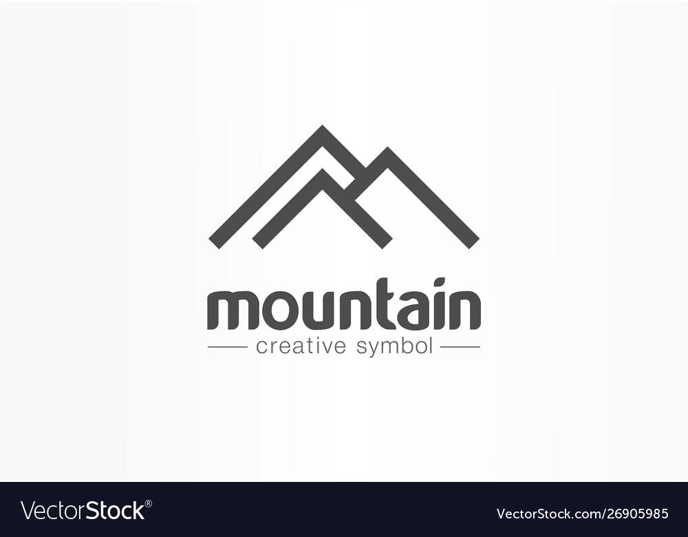 Mountain tourism travel creative symbol concept