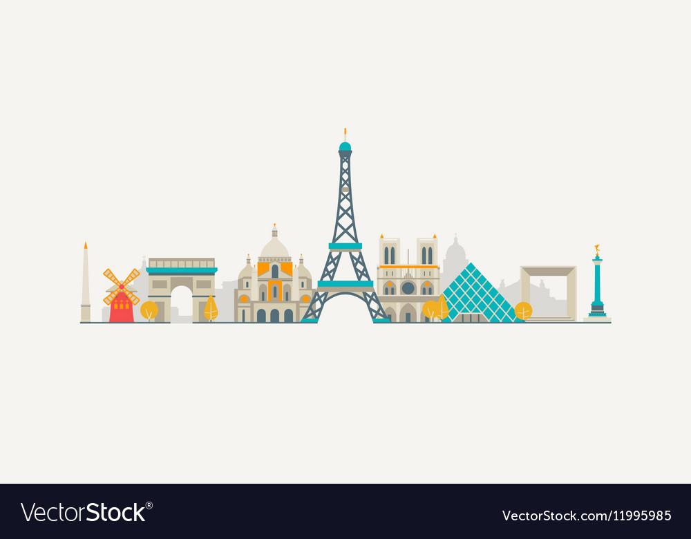 Paris abstract skyline