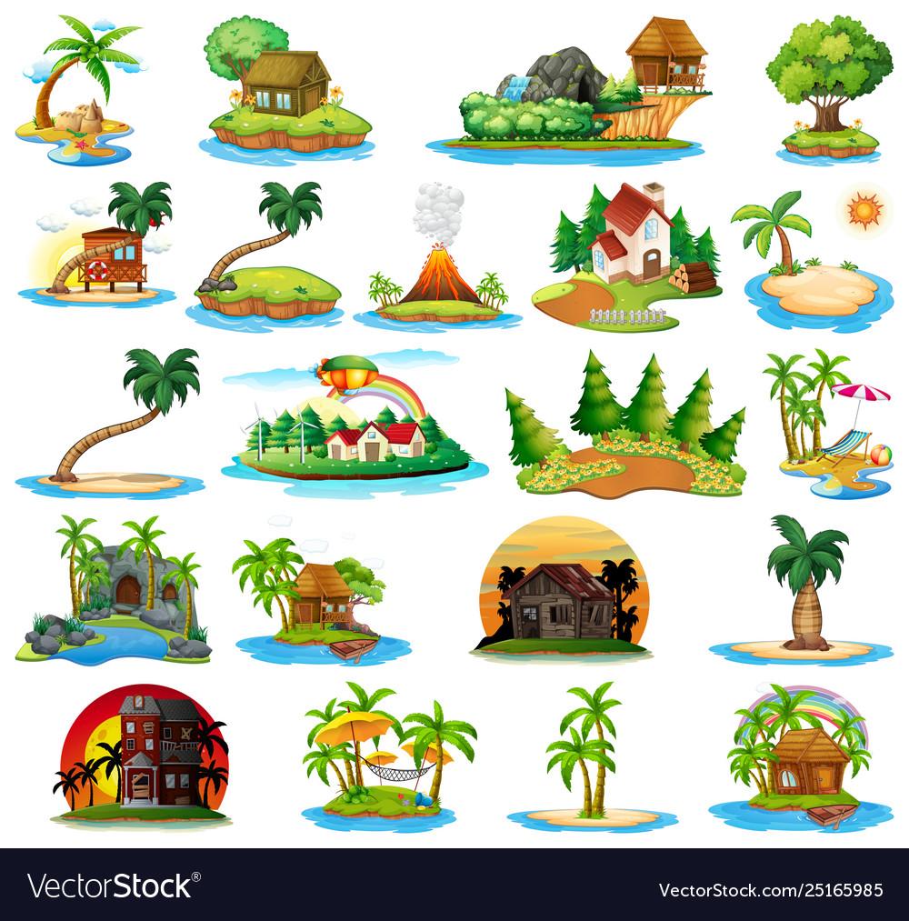 Set nature island