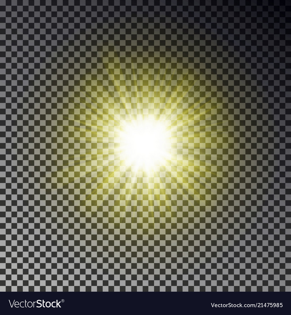 Sun ray light isolated on checkered background tr