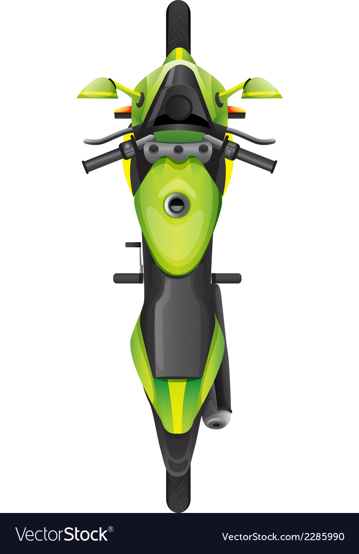 A topview of a motorcycle vector image