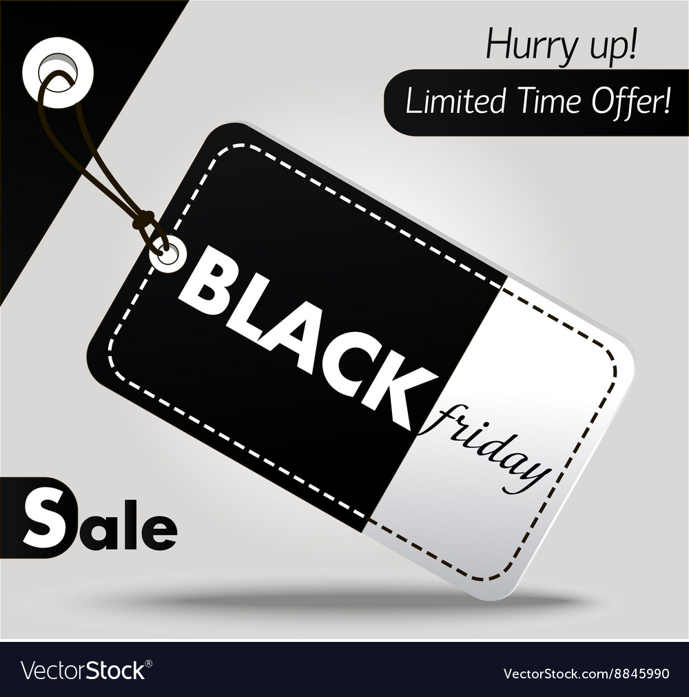 Black Friday sales tag 2 vector image