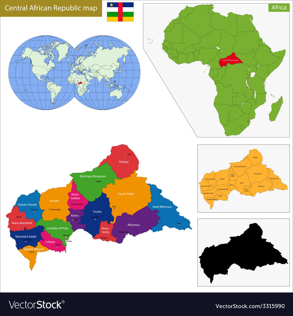 Central African Republic map vector image