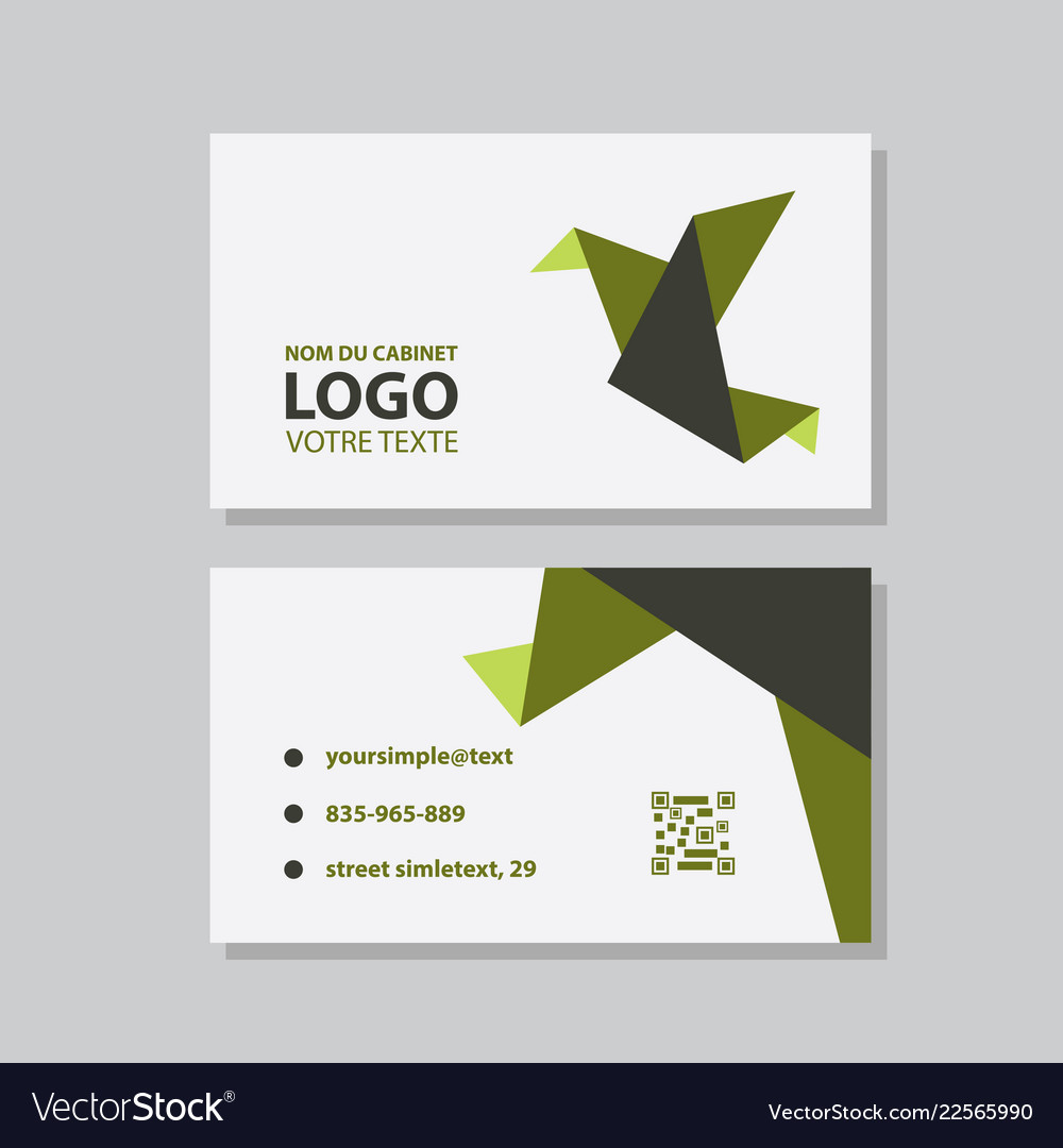 Creative and clean business card template flat