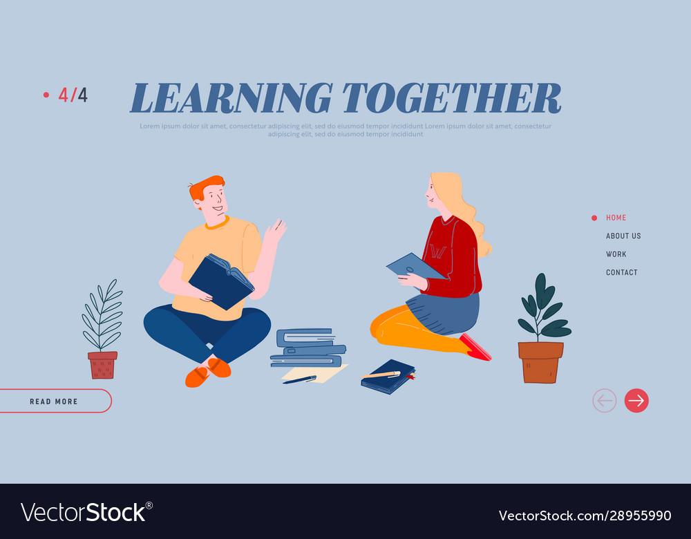 Education in university or college website landing