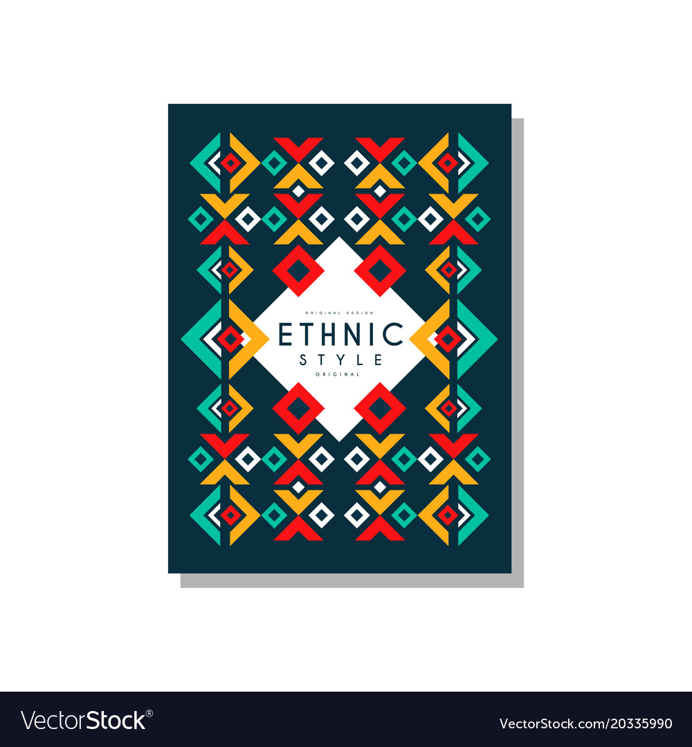 Ethnic style original colorful ethno tribal vector image