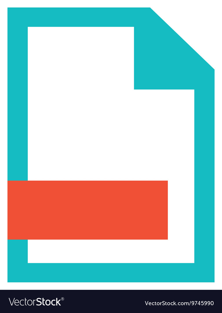 File paper flat icon vector image