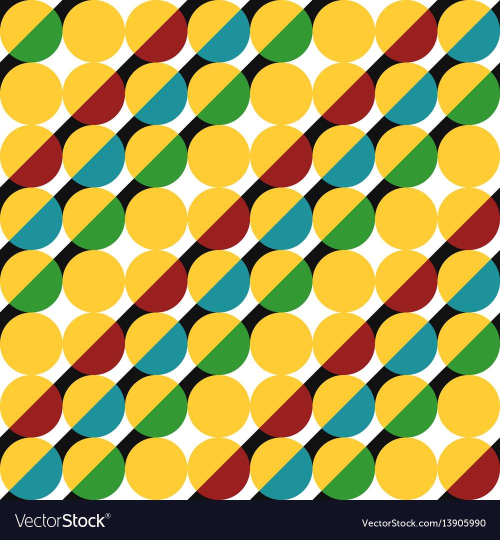 Geometric pattern of circles