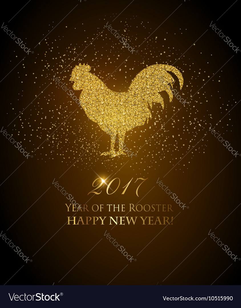 Happy new year 2017 background year rooster