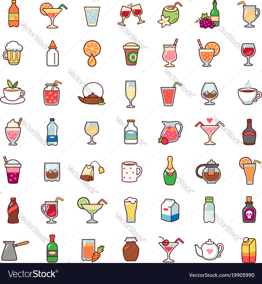 Icons drinks