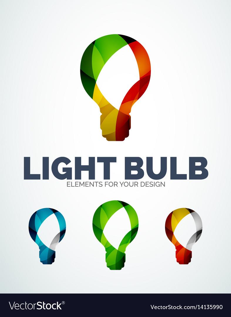 Light bulb abstract symbols new idea vector image