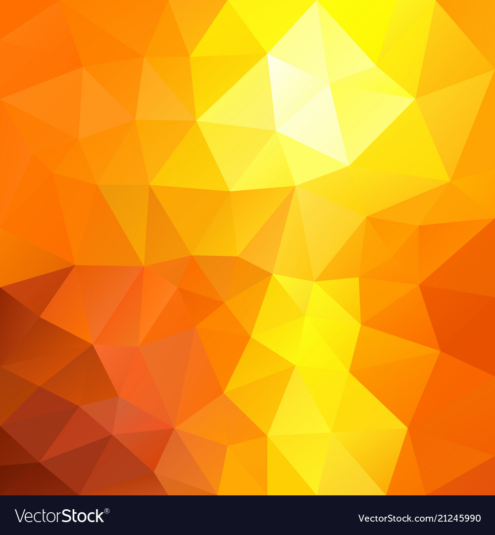 Polygonal square background summer orange yellow