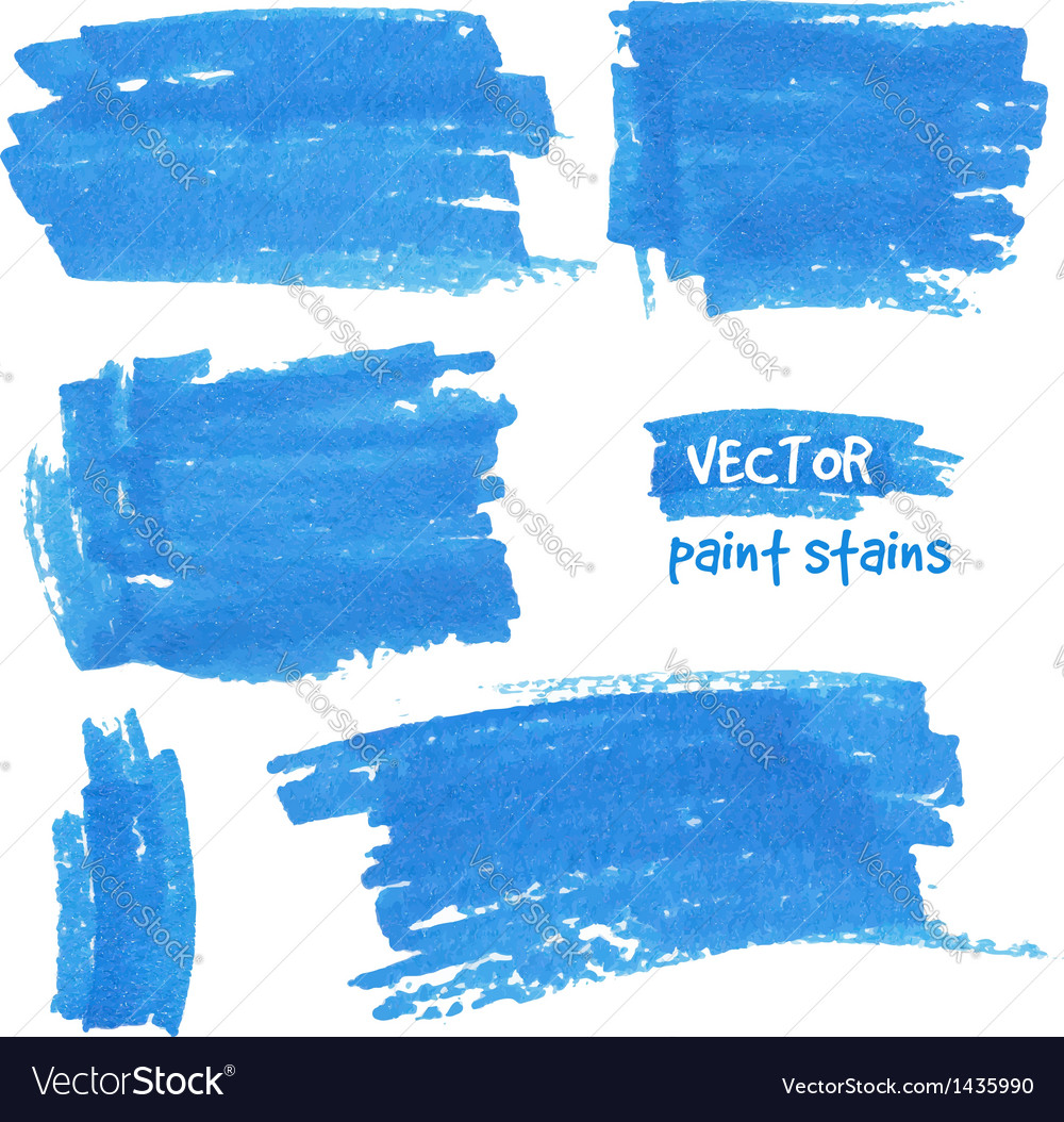 Spot of paint drawn by felt pen vector image