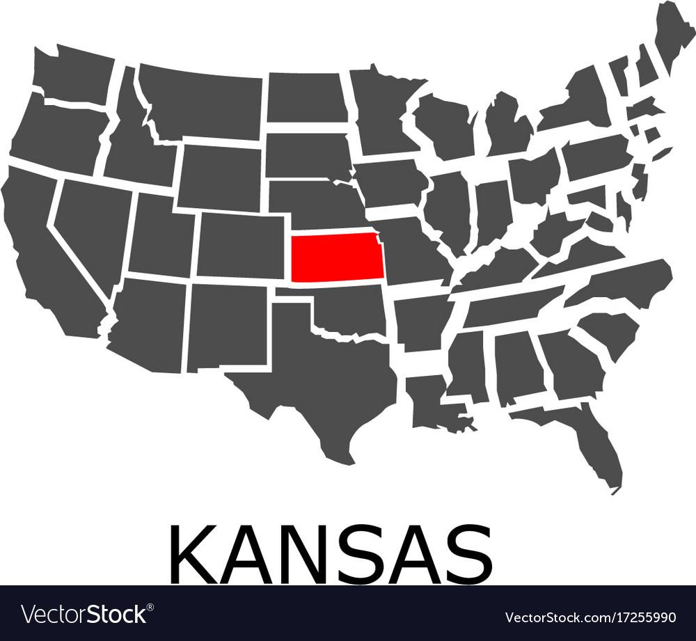 State of kansas on map of usa on kansas map with cities, philadelphia map usa, boston map usa, state of kansas usa, the 50 states map with the usa, kansas statehood, kansas state map usa, kansas on us map,