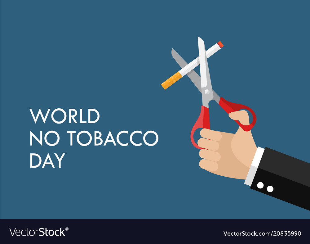 Tobacco abuse concept poster