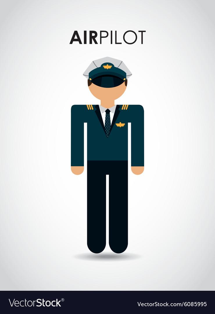 Air pilot vector image
