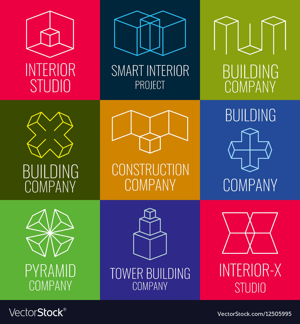 Architectural Firm Interior Design Studios Vector Image