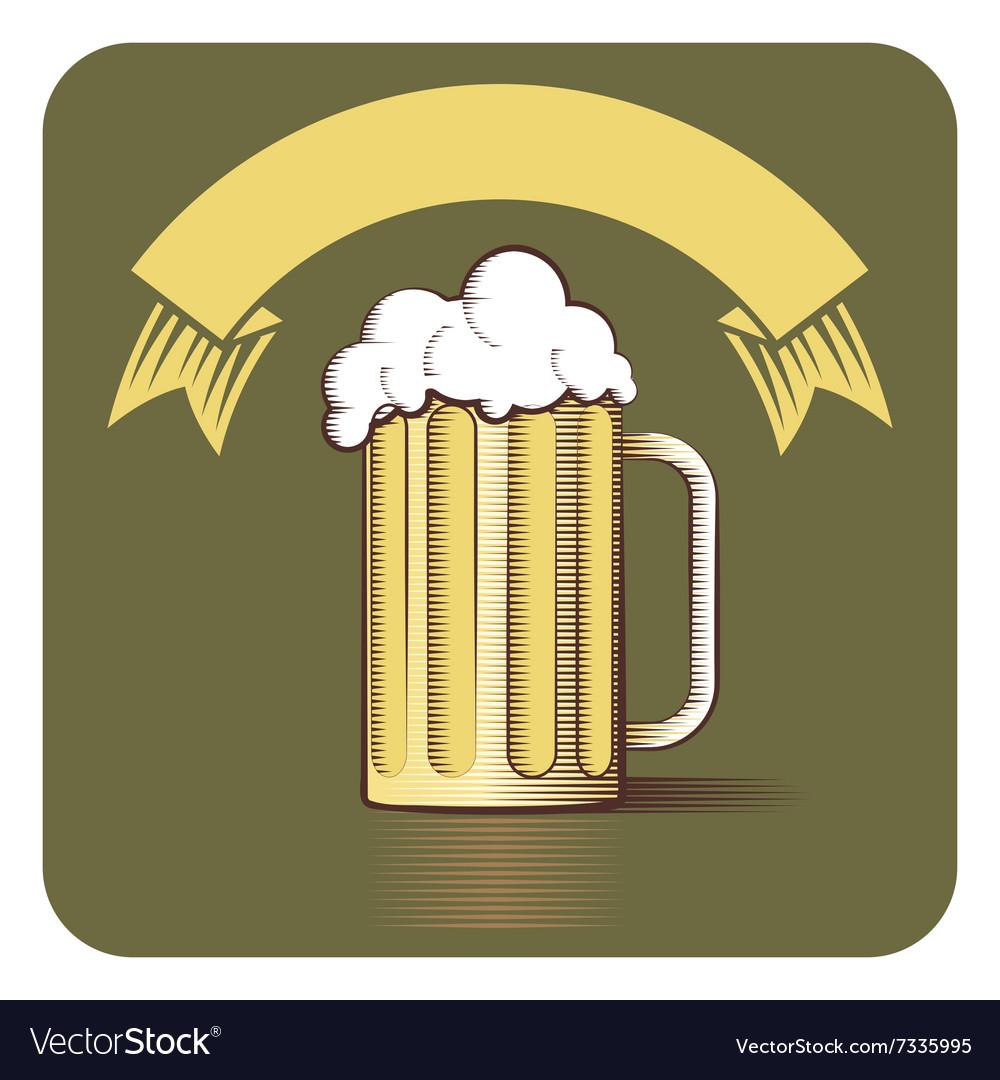 Beer Gravoure vector image