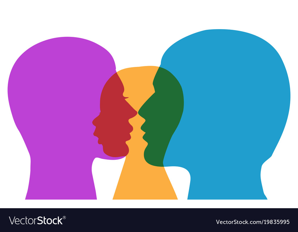 Colorful silhouette of family vector image