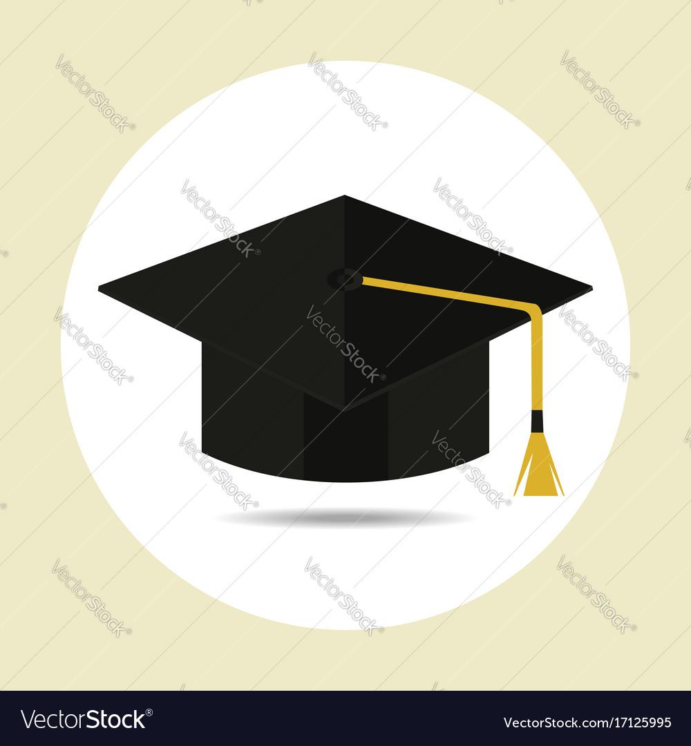 Graduation cap in flat style