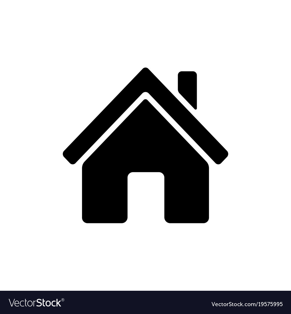 home icon royalty free vector image vectorstock rh vectorstock com house icon vector white 3d house icon vector