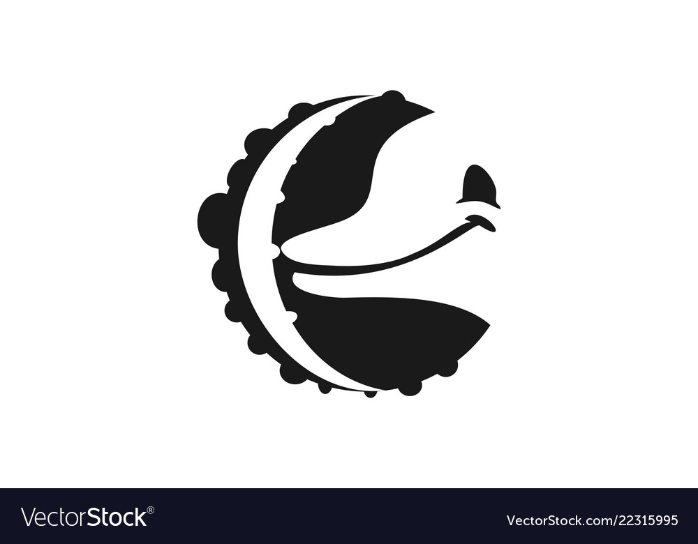 Octopus feet and dolphin head logo designs