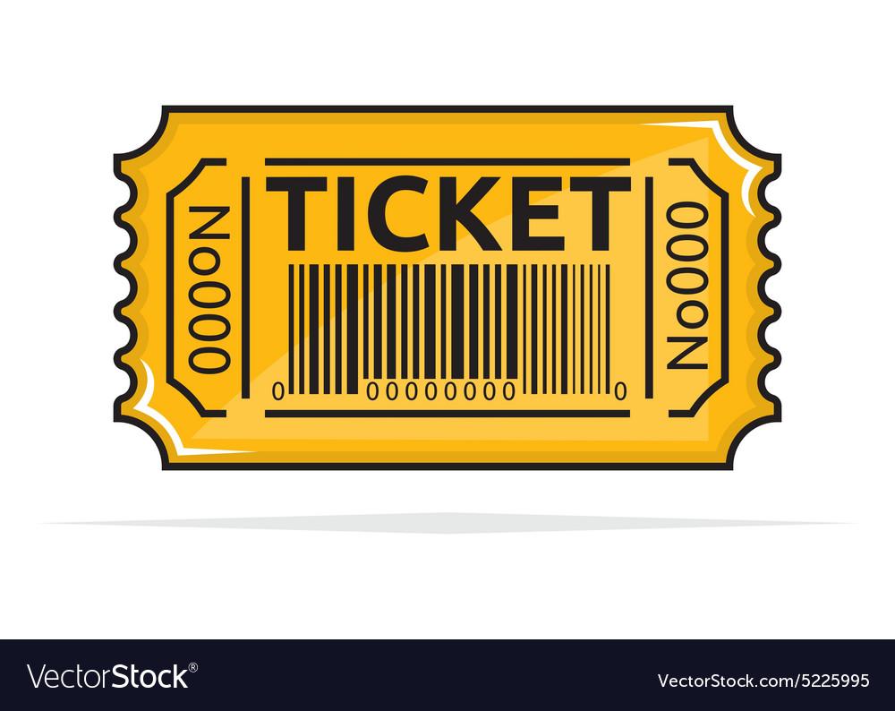 Tiket vector image