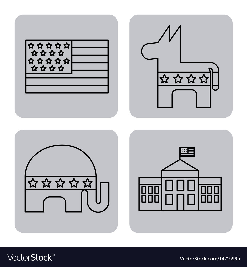Usa related assorted icons image vector image