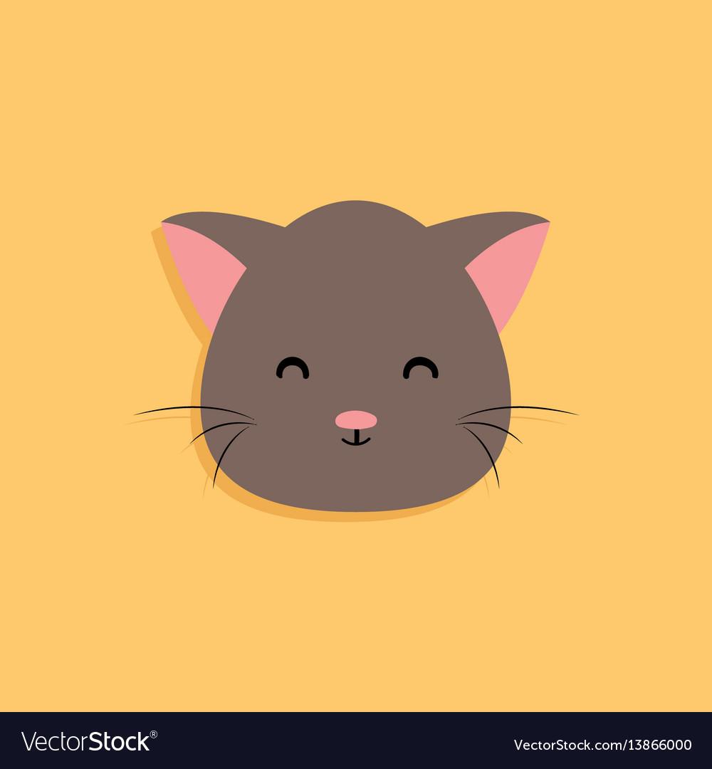 Cat cartoon face vector image